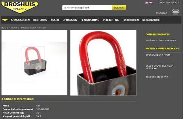 Fotografie voor de Webshop van Broshuis bv